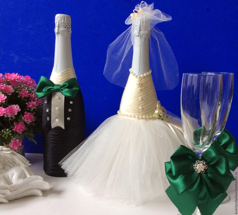 Бутылки шампанского на свадьбу своими руками пошаговое оформление на фото: мастер класс декора