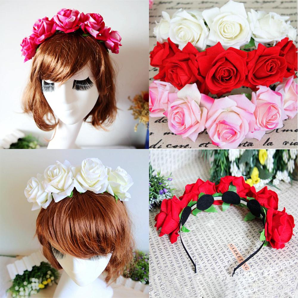 Ободок с цветами (129 фото): цветочные украшения на голову, ободок для волос с цветами из фоамирана