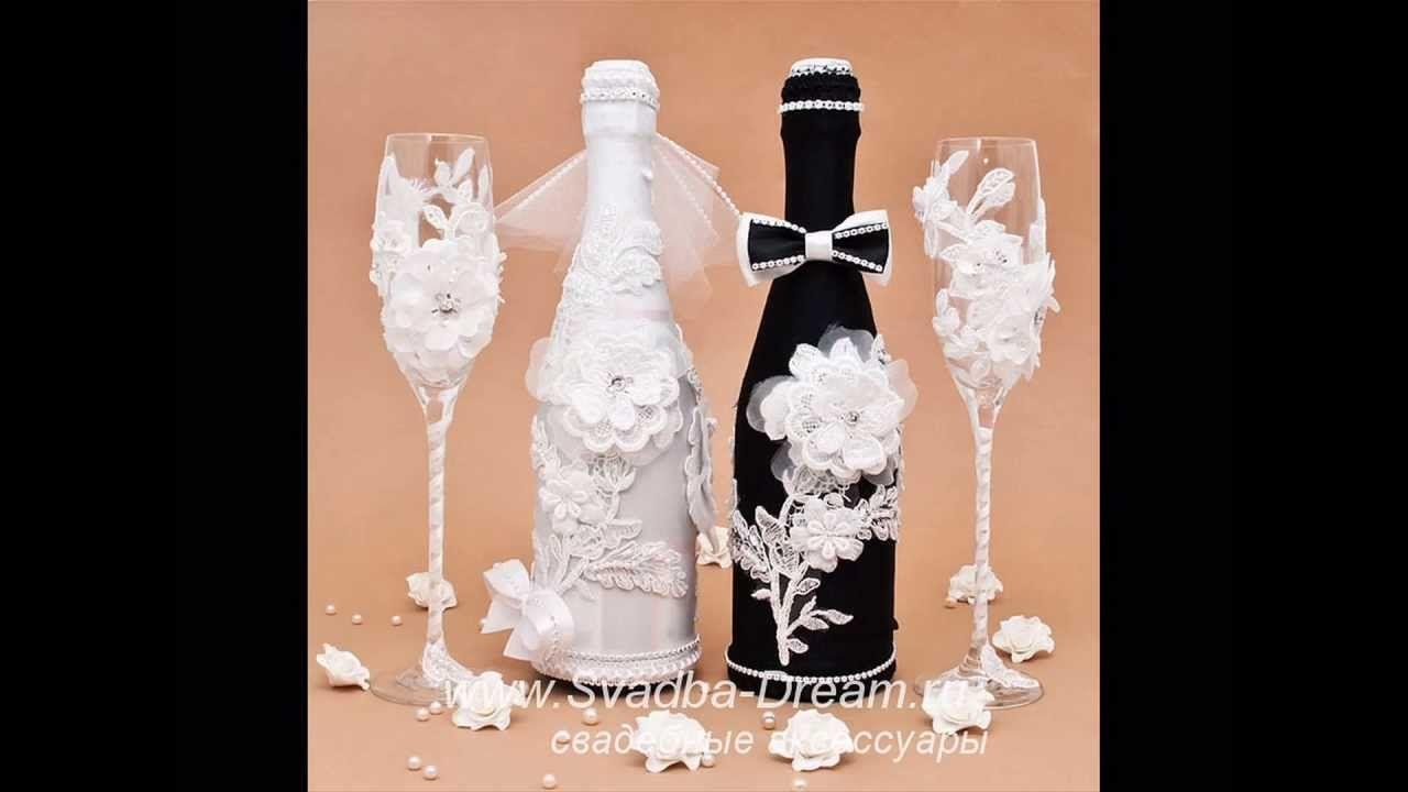 Бутылки на свадьбу своими руками ? жених и невеста, идеи по украшению с лентами