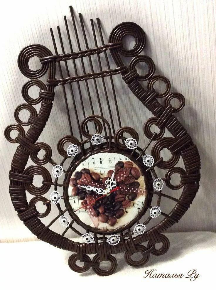 Панно из газетных трубочек: плетение декоративных предметов своими руками для начинающих рукодельниц с подробным описанием
