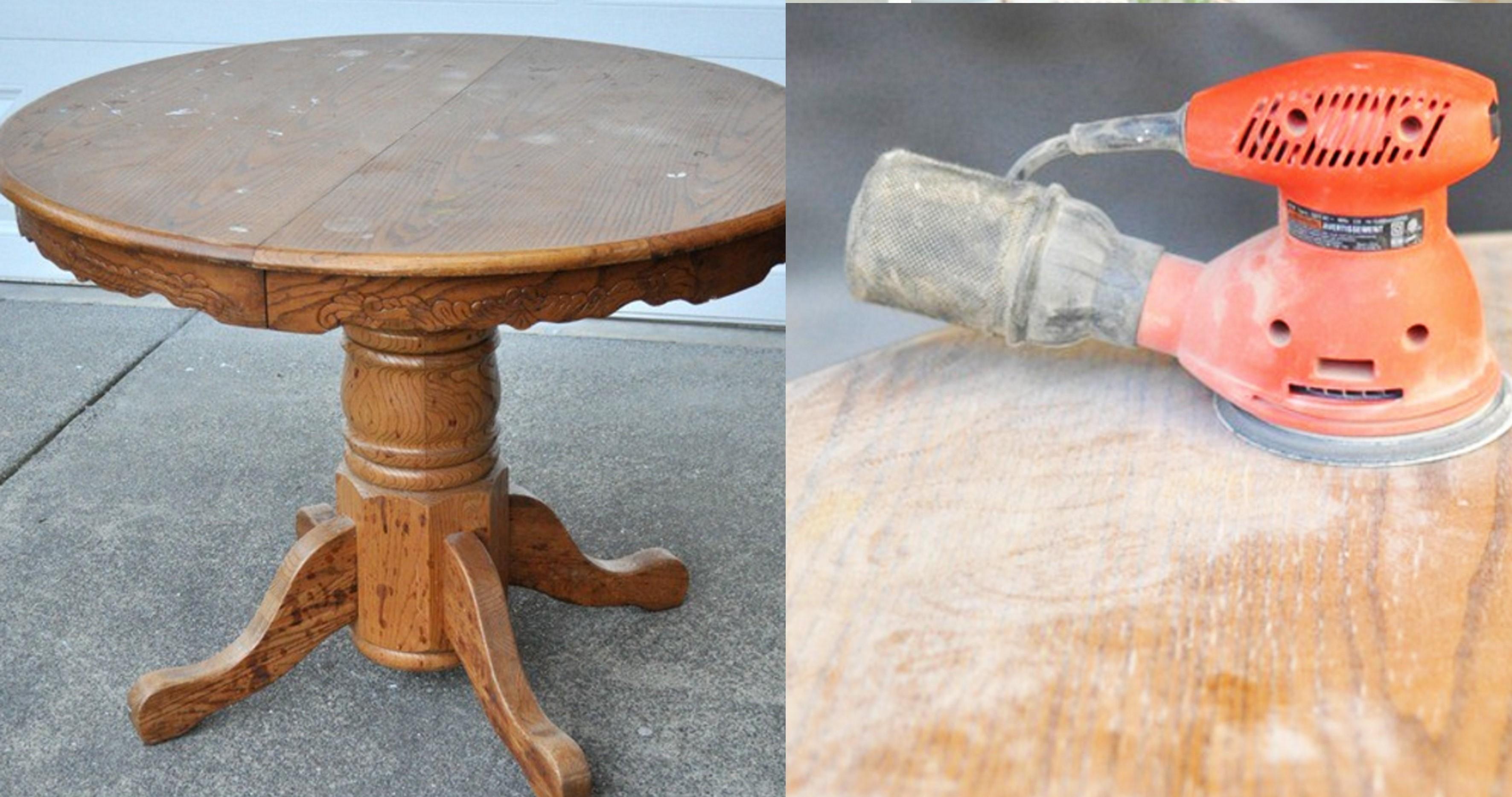 Реставрация старого круглого стола своими руками