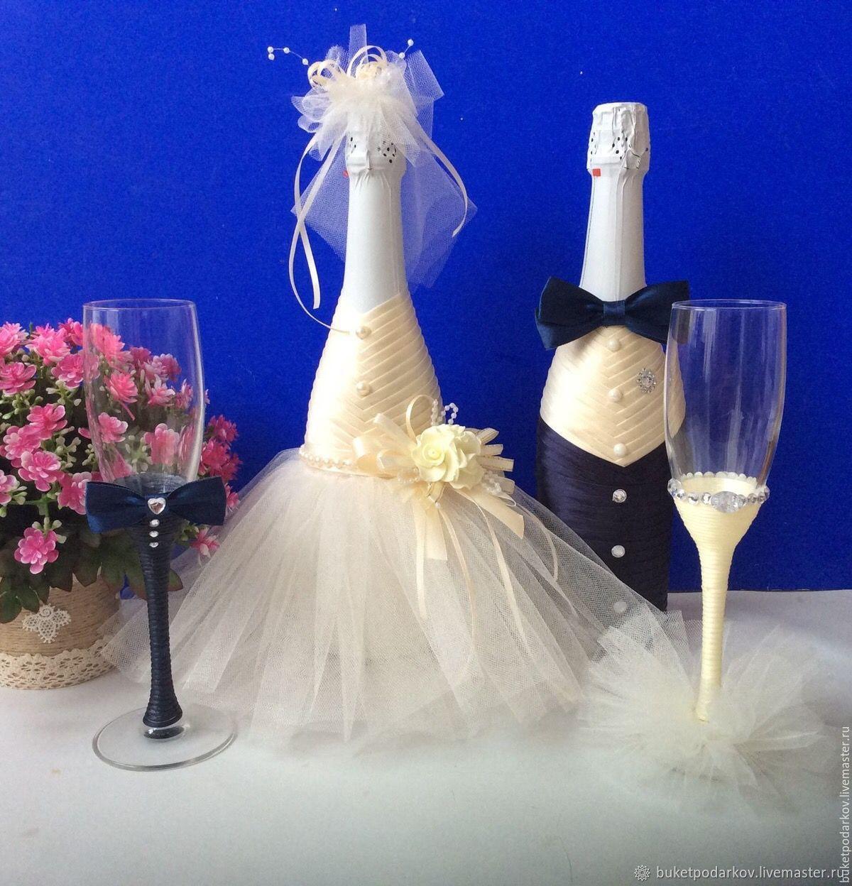 Идеи по украшению свадебных бутылок и популярные варианты декора