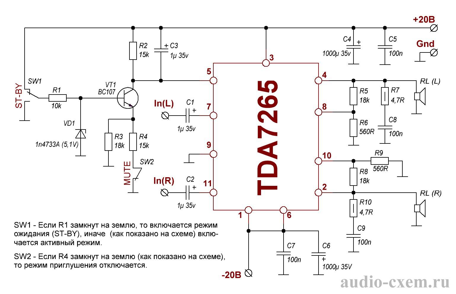 Микросхема-усилитель tda7377