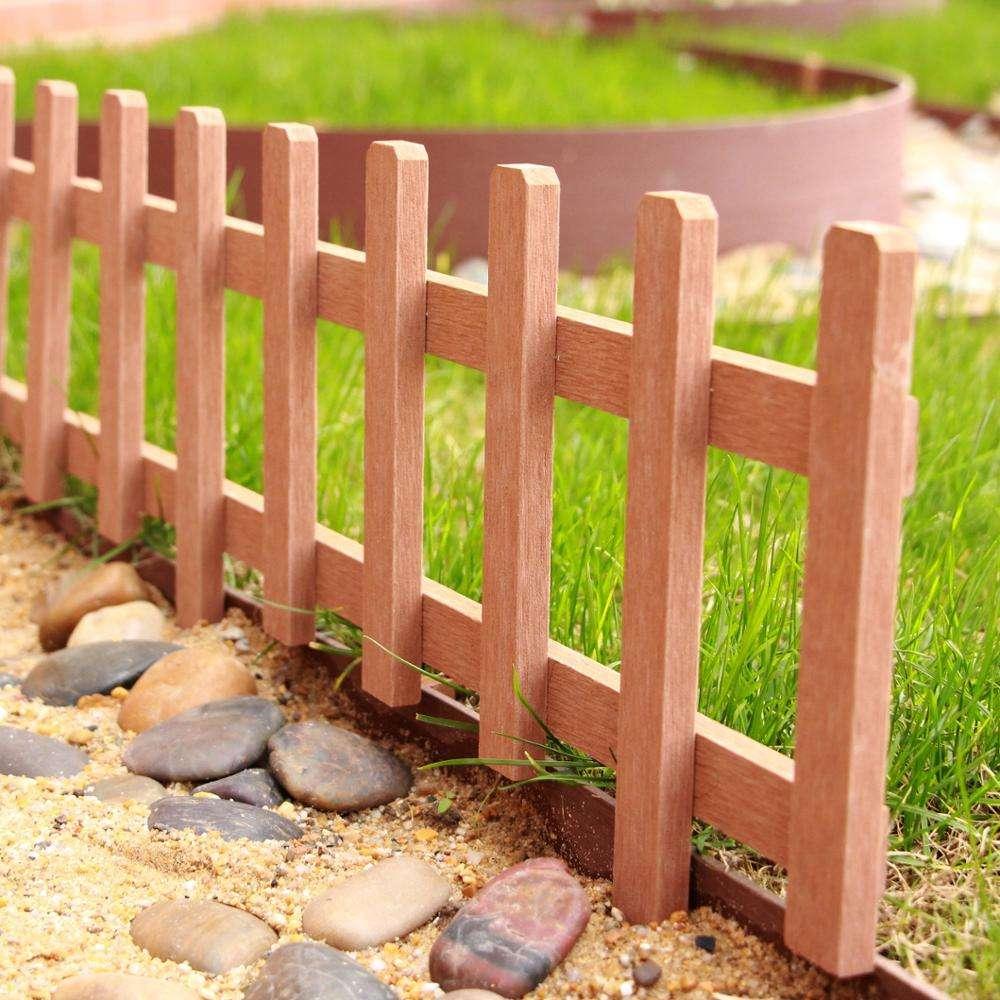 Как сделать ограждение для клумбы своими руками: декоративные заборчики  из дерева, ограждение для клумбы из камня, кирпича с пошаговой инструкцией.