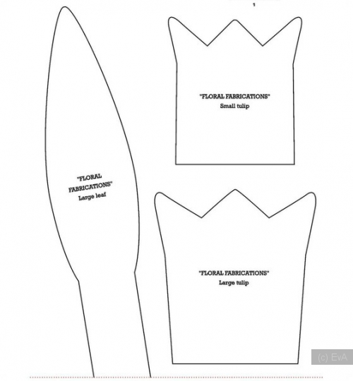 Тюльпан из ткани с выкройкой - мастер-классы по рукоделию с фото, видео, схемами и описаниями пошагово