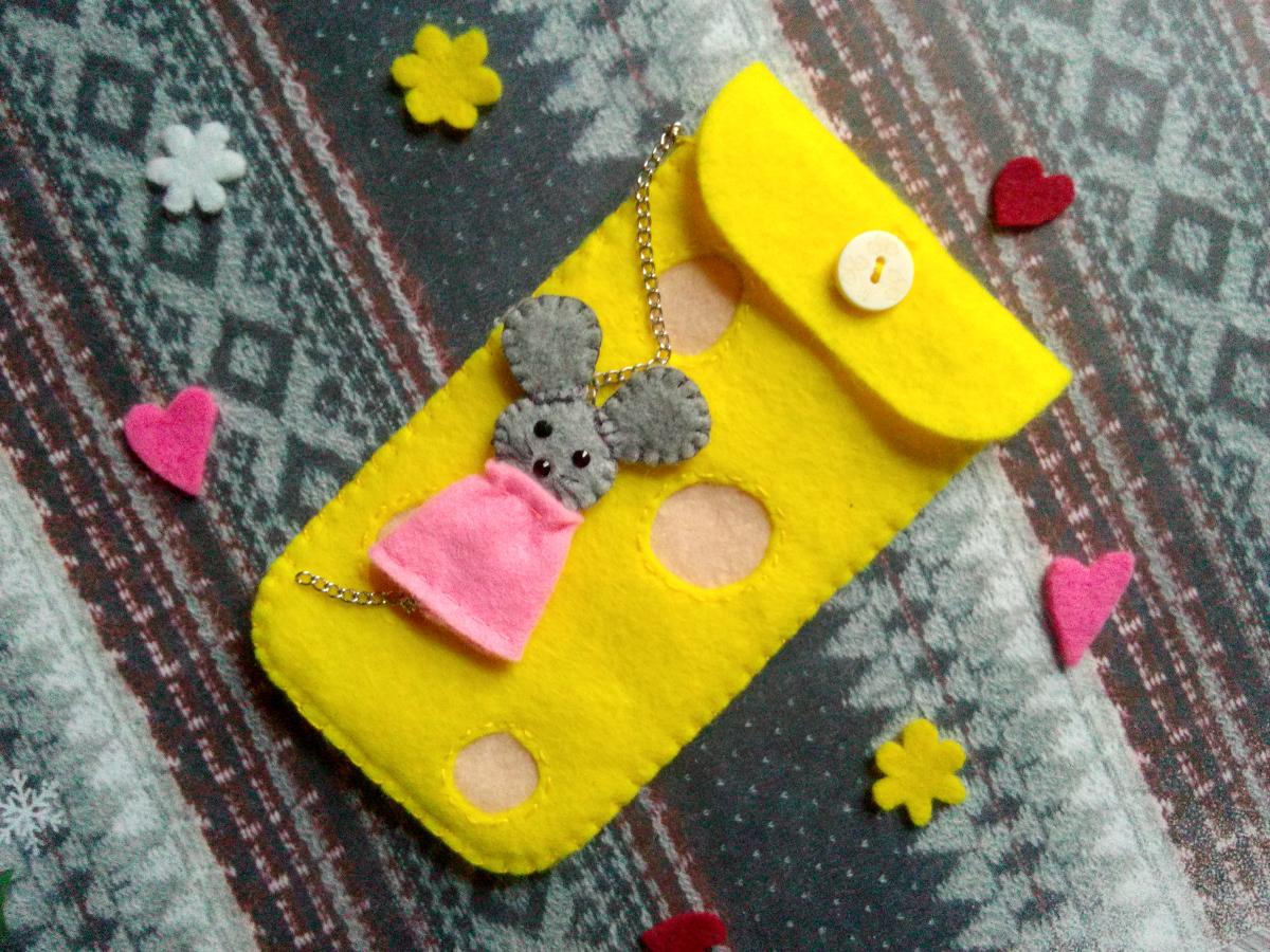 Украшение упаковка подарка шитьё чехлы из фетра для телефона фетр