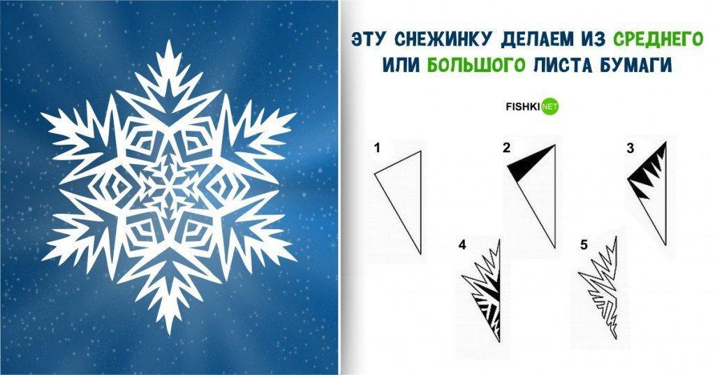 Как сделать красивую снежинку :: инфониак