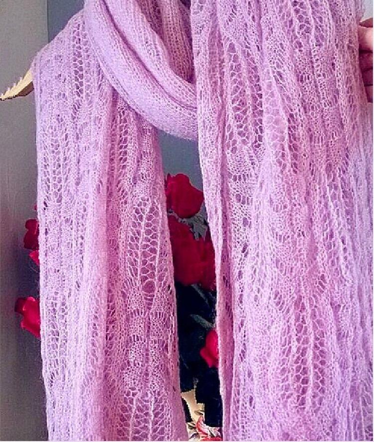 Связать шарф спицами для женщин: красивый узор