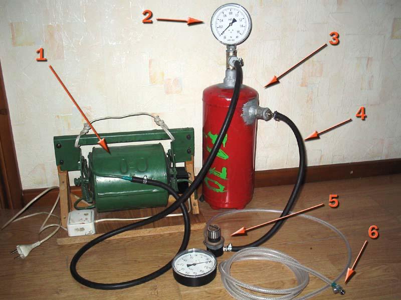 Самодельный компрессор для аэрографа из старого холодильника