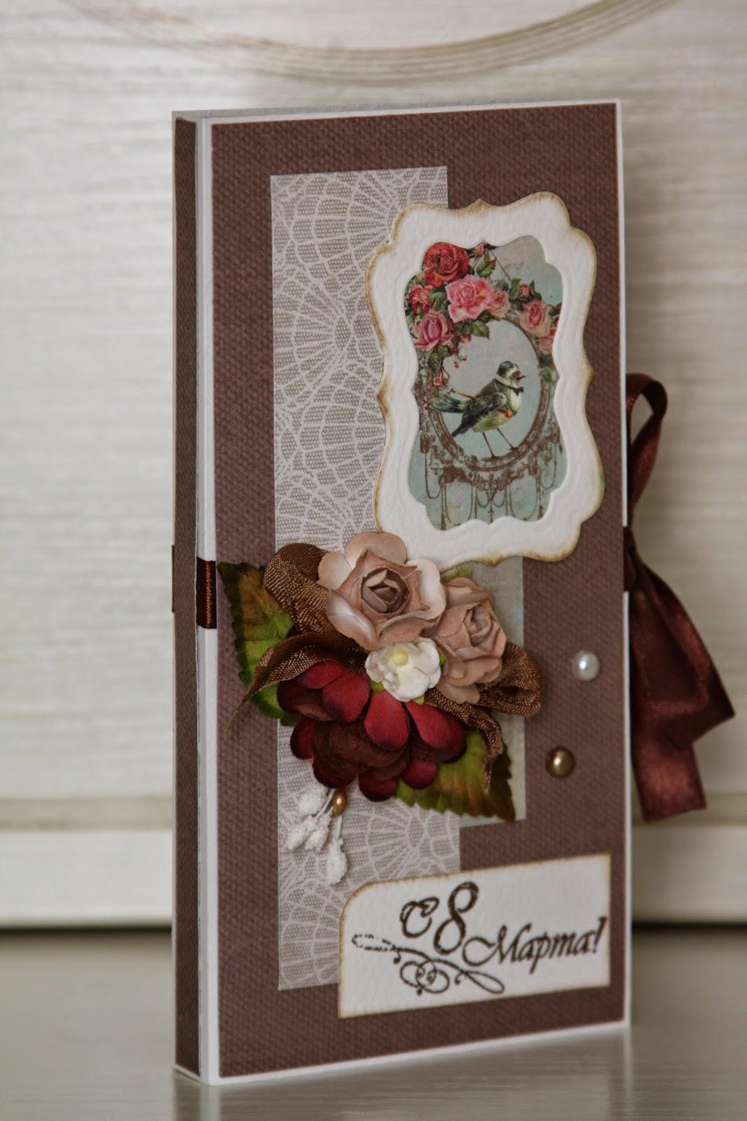 Скрапбукинг 8 марта ассамбляж шоколадницы к 8 марта и блоки на магнитах бумага магниты