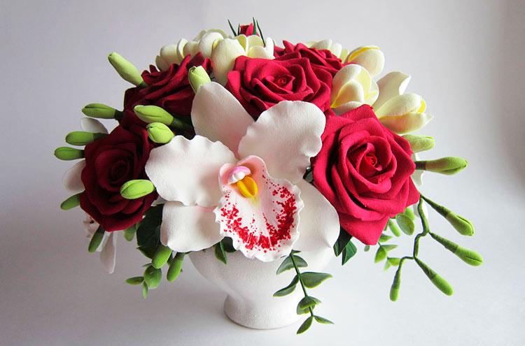 Цветы из холодного фарфора: пошаговые мастер-классы их лепки для начинающих