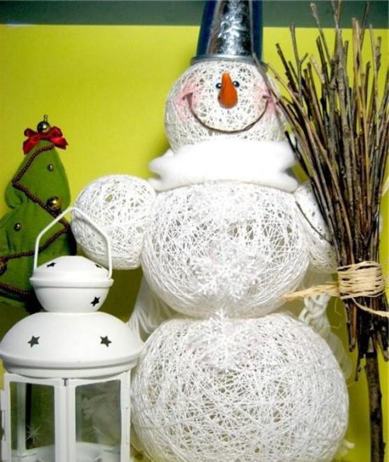 Снеговик своими руками: поделки снеговиков из разных материалов