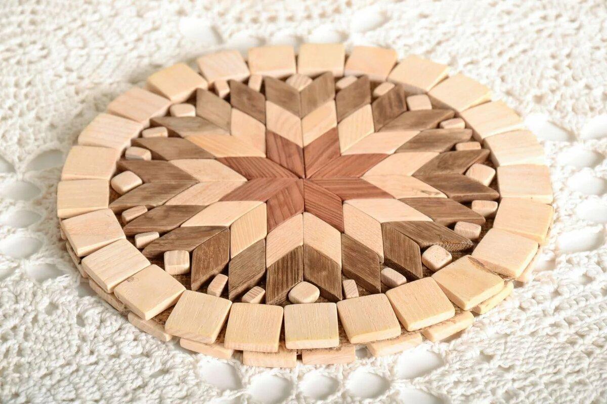 Подставки под горячее своими руками - пошаговый мастер класс создания деревянной, каменной и вязаной подставки (фото)