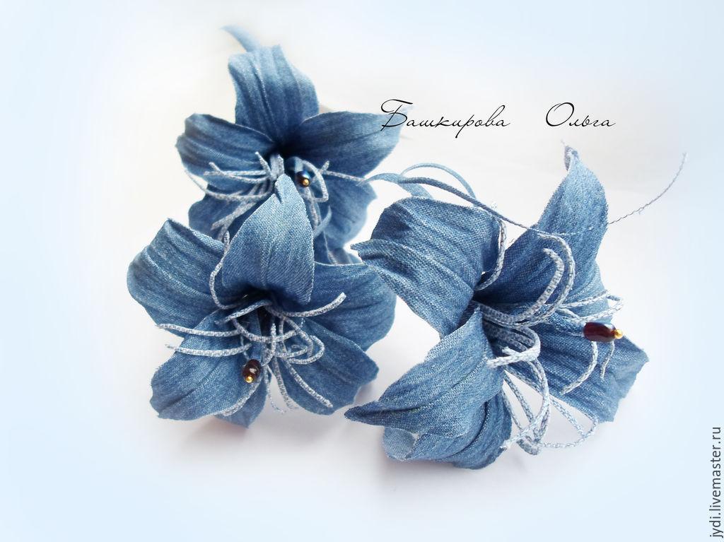Джинсовые цветы | страна мастеров