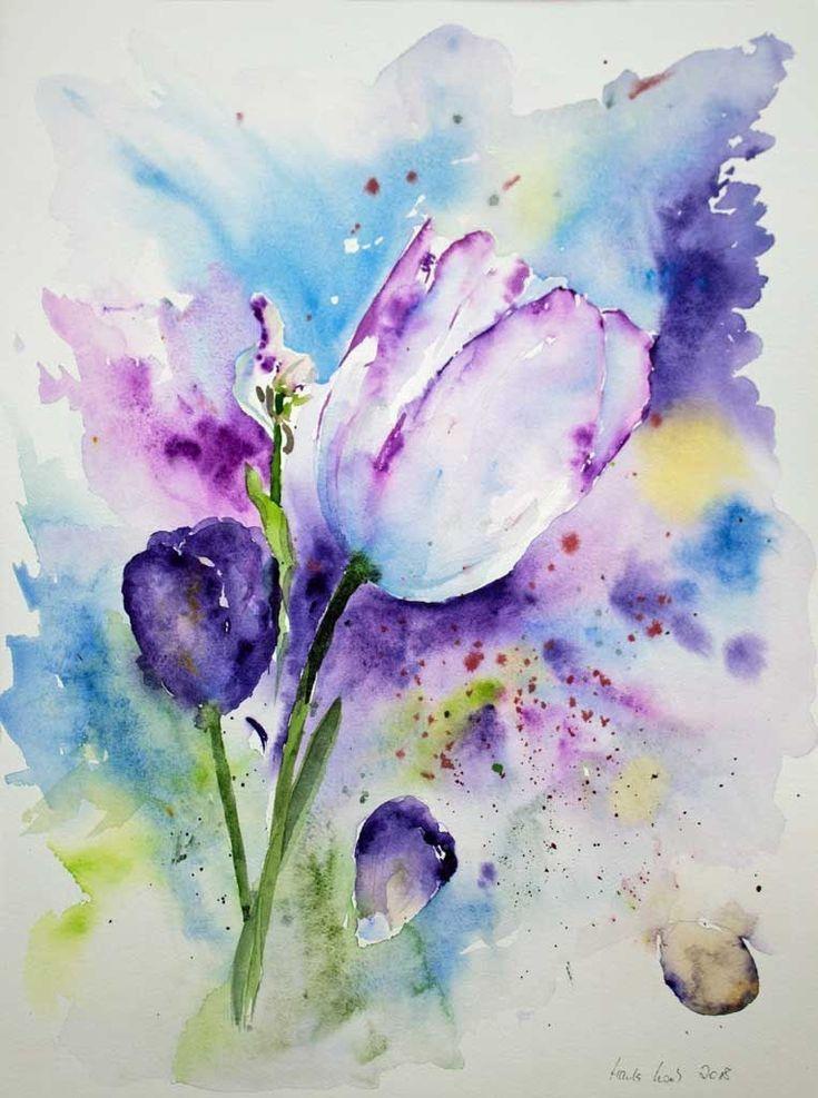 Акварельная живопись цветок, акварельные цветы, белые и оранжевые цветы png | hotpng