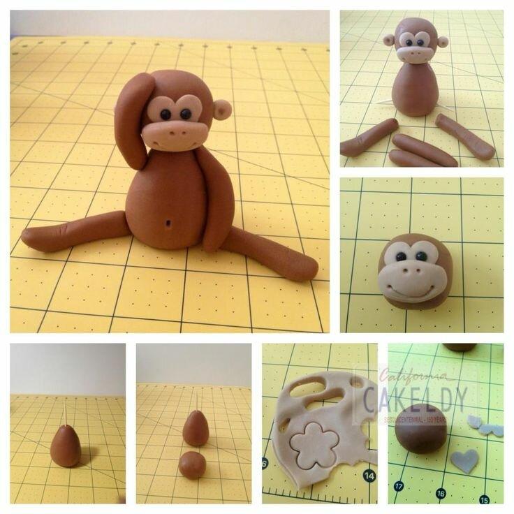 Лепим обезьяну из пластилина своими руками. мк с фото