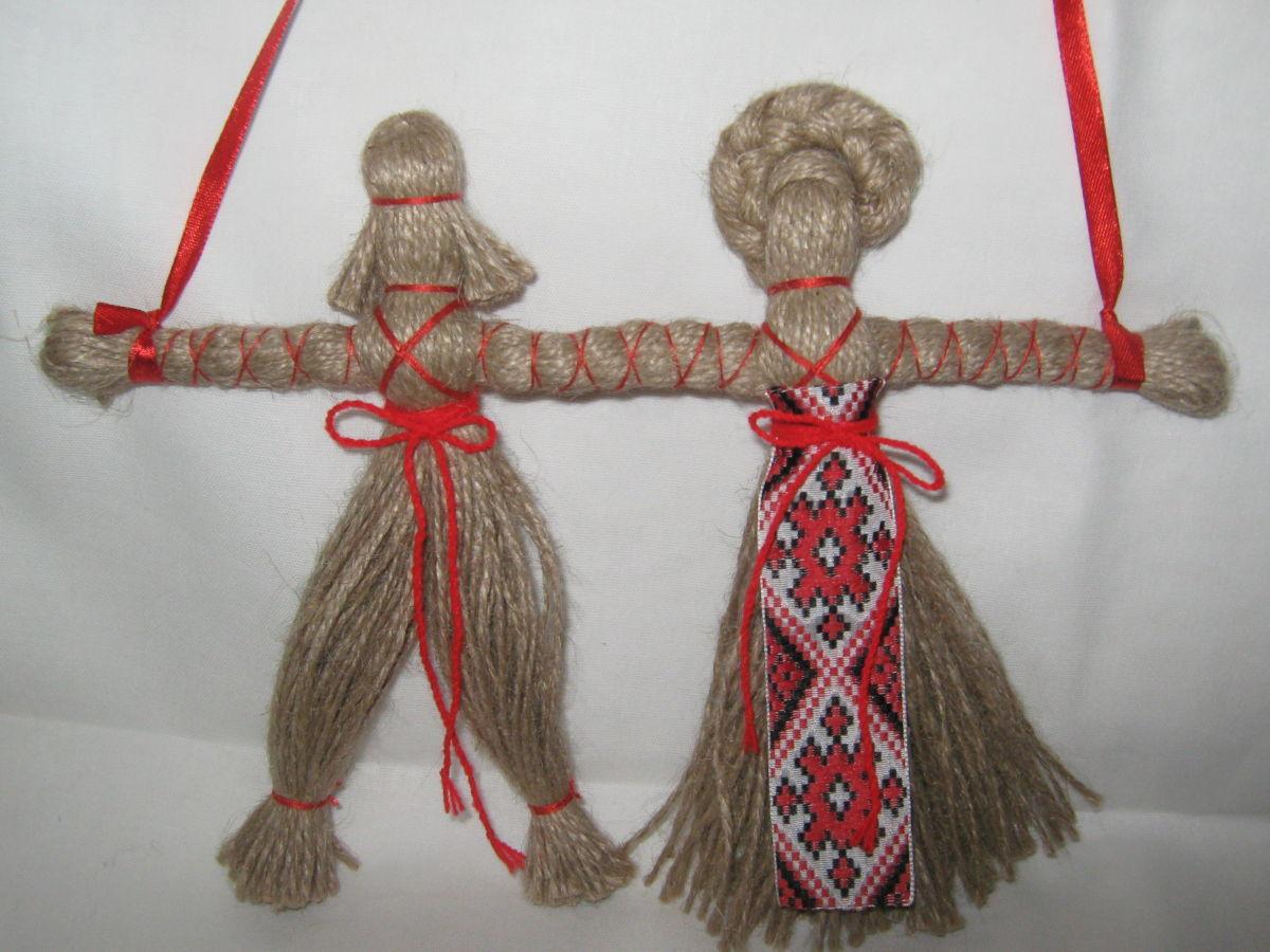 Как сделать куклу из ниток?