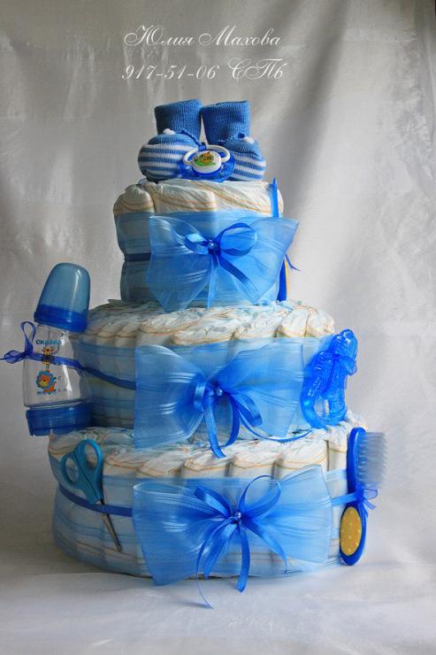 Торт из памперсов со сладким дополнением | страна мастеров