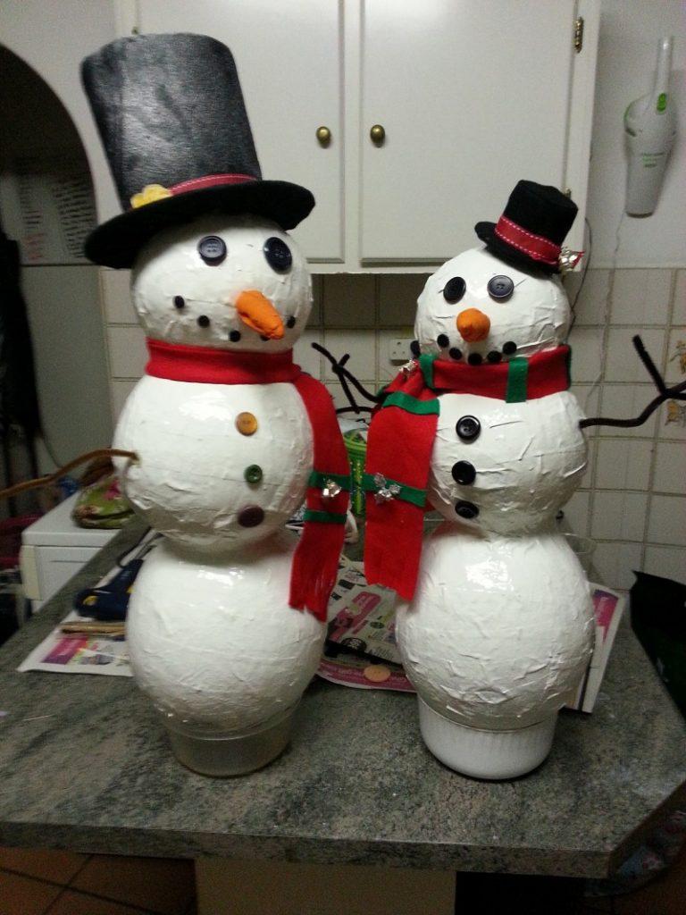 Снеговики своими руками на новый год из подручных материалов