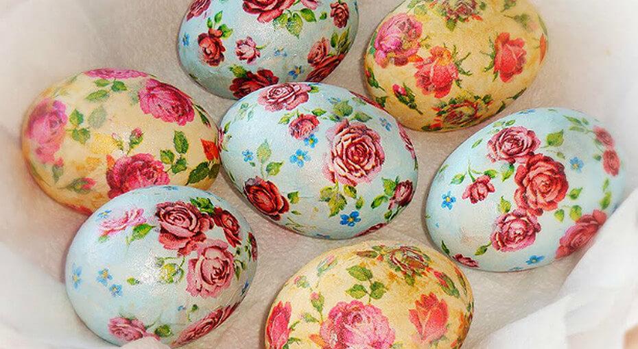 Декупаж яиц на пасху салфетками: мастер класс с фото и видео