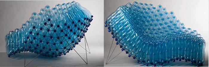 Кресло из пластиковых бутылок своими руками (мастер-класс)