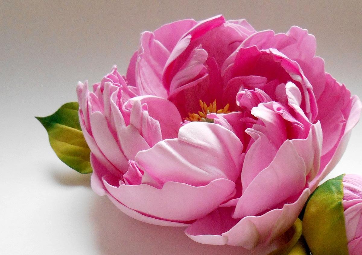 Пион из фоамирана: мастер-класс по изготовлению букета цветов