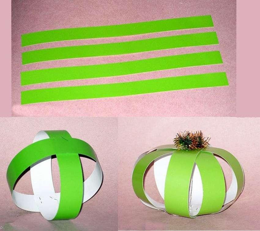 Объемный футбольный мяч из бумаги