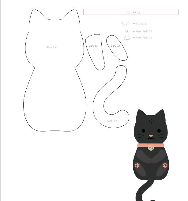 Как сшить кошку своими руками - 100 фото основных способов и видео мастер-класс пошива кошек