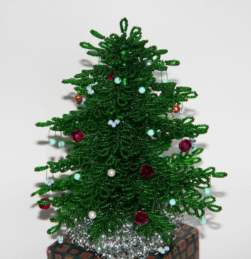 Новогодняя елка из бисера своими руками. мастер-класс с пошаговыми фото