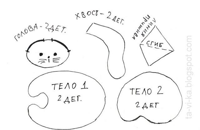 Как сшить из фетра котика. гламурные коты – поделка из фетра своими руками. фетровые игрушки на руку
