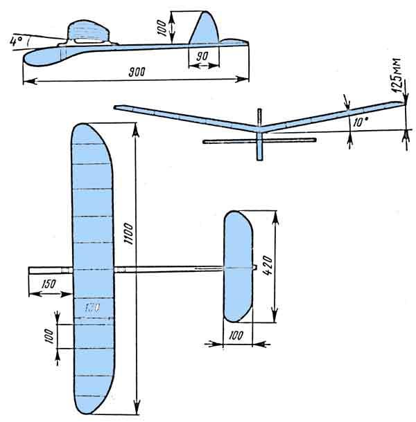 Самолет из потолочной плитки