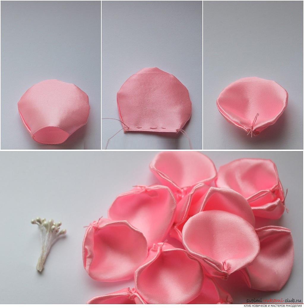 Розы из ткани своими руками, мастер класс. как сшить розочки из ткани