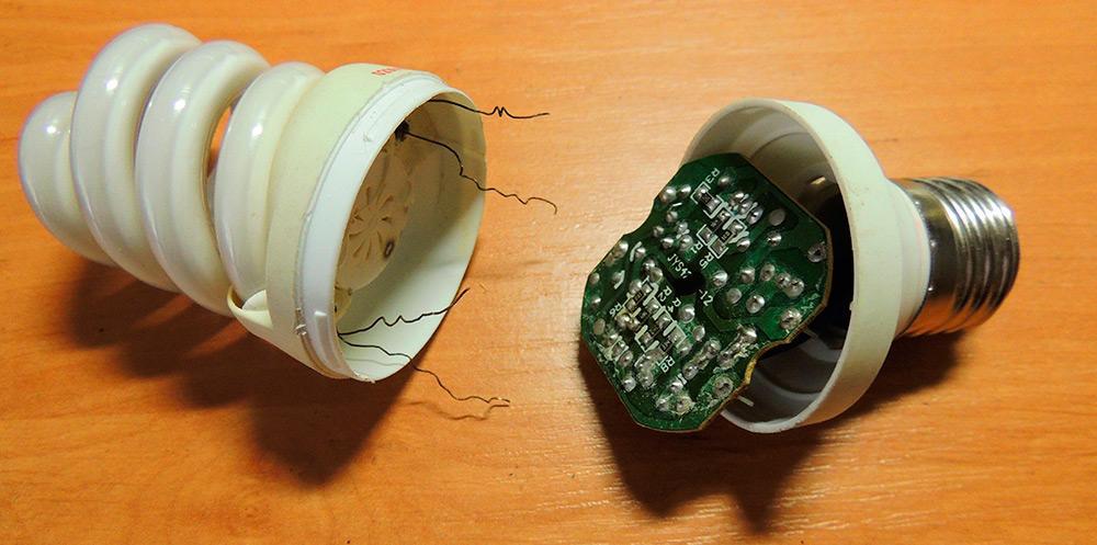 Как переделать энергосберегающую лампу в блок питания. драйвер для светодиода из энергосберегающей лампы