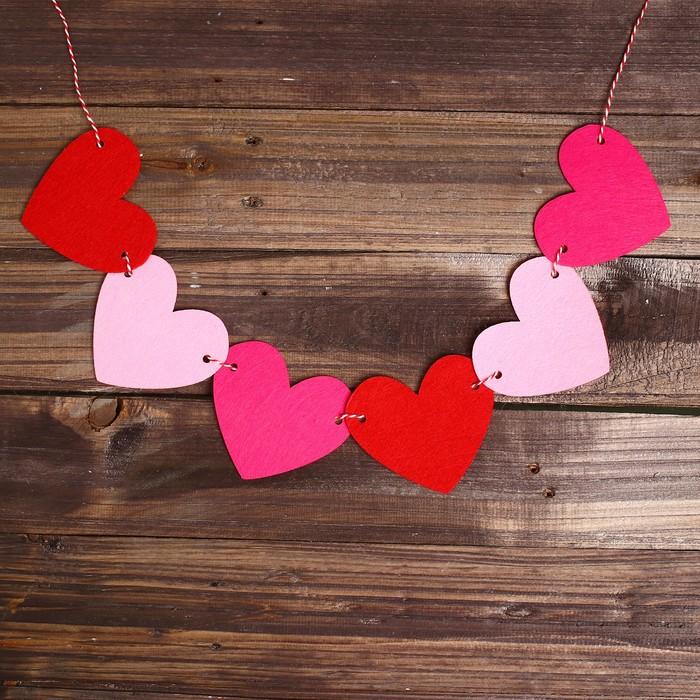 Как сделать гирлянду из сердечек своими руками