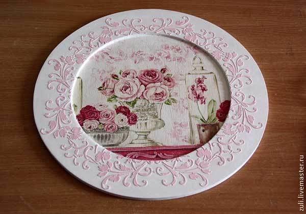 Декупаж тарелок салфетками, декупаж посуды, декор тарелок и декупаж тарелки яичной скорлупой