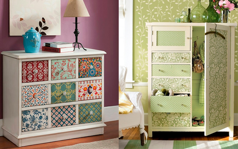 75 крутых идей декорирования, обшивки, восстановления мебели