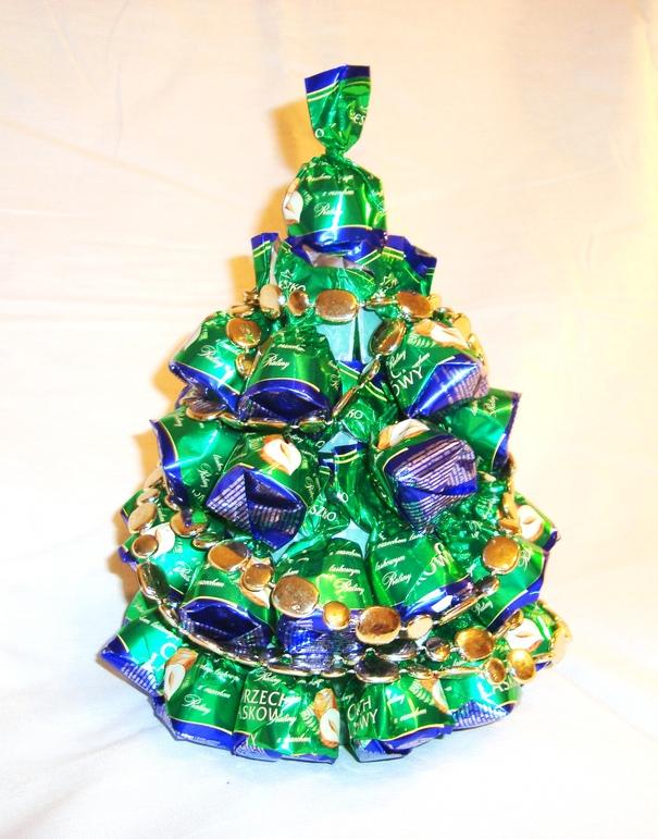 Как сделать елку из конфет к новому году