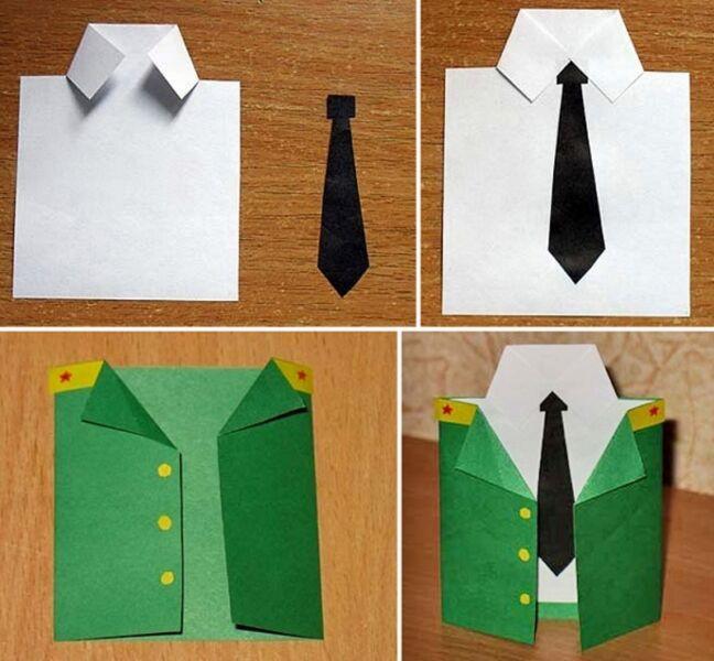 Оригами из денег: поделка - рубашка с галстуком и схема выполнения - сайт о рукоделии