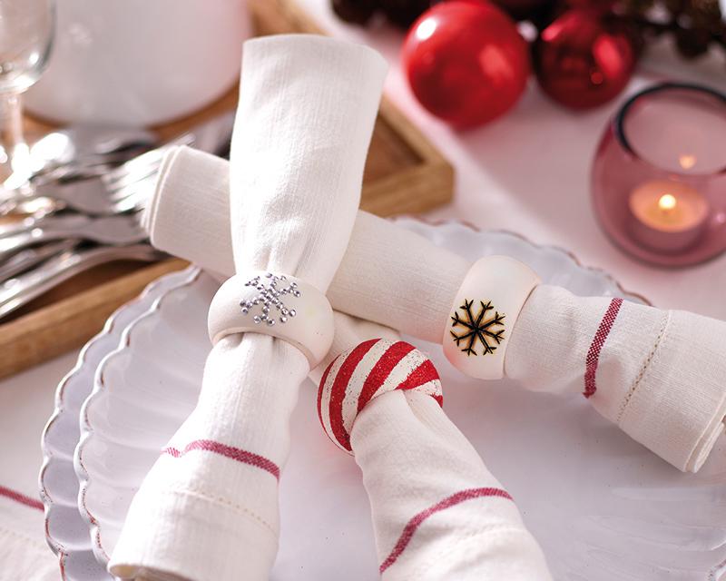 Кольца для салфеток своими руками: как красиво и оригинально украсить праздничный стол
