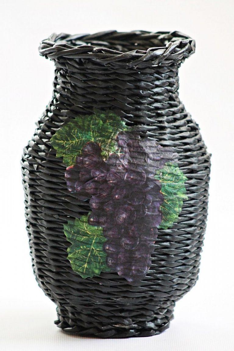 ᐉ большая спиральная ваза из бумажной лозы - своими руками -