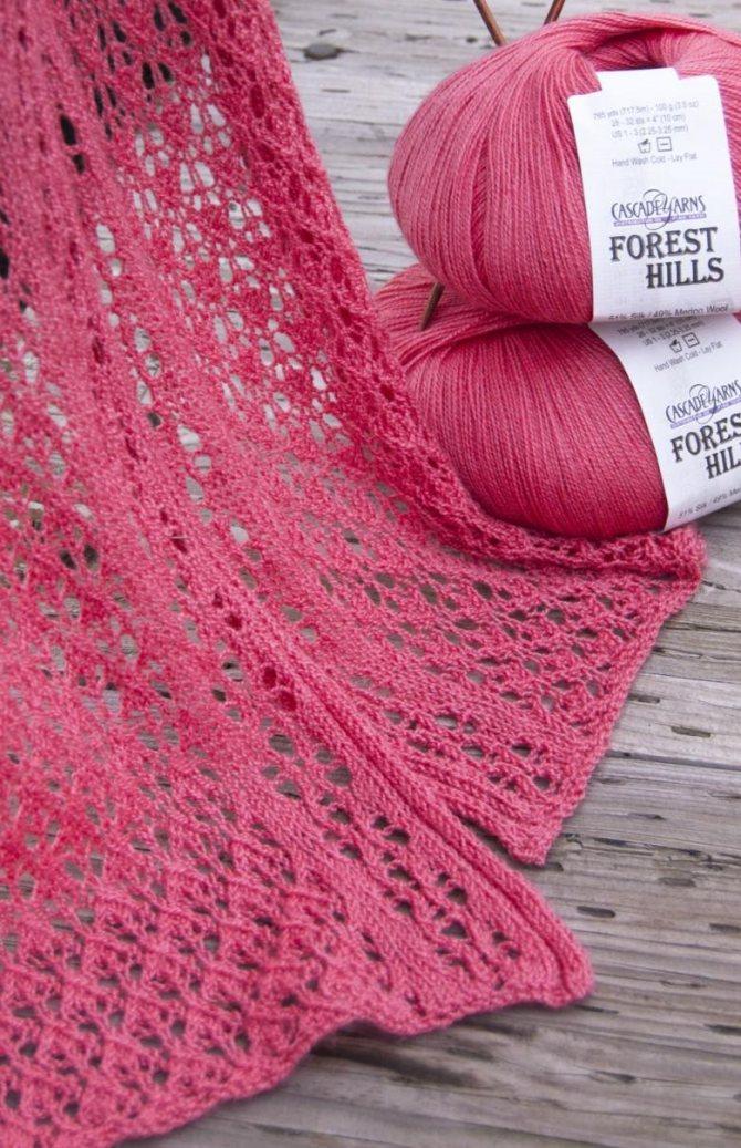 Схемы женских ажурных шарфов спицами - лучшие модели 2018 года и подробное описание их создания