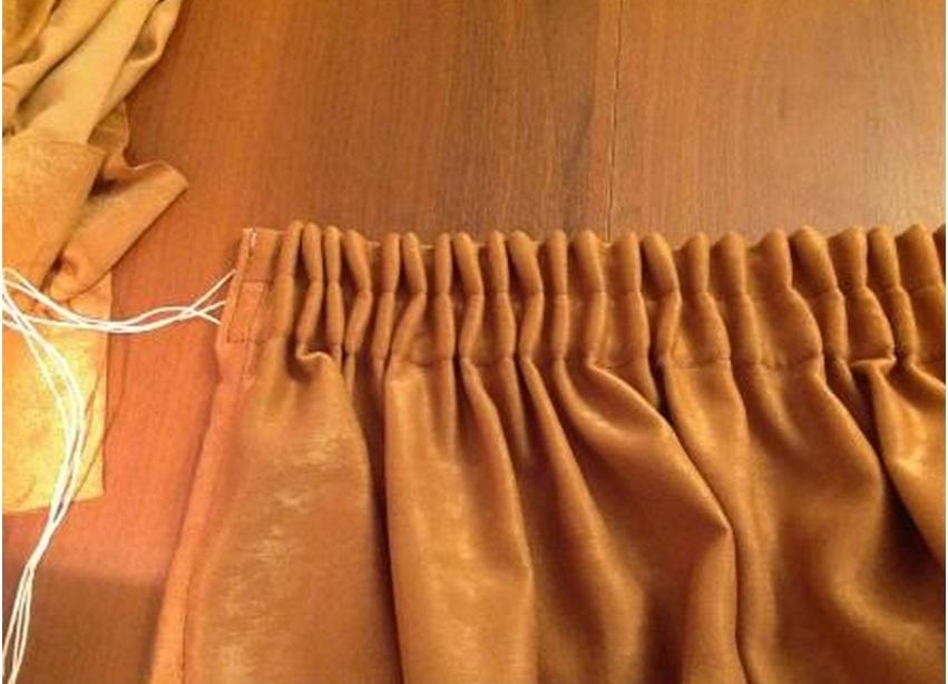 Как подшить портьеры в домашних условиях — методы подшива