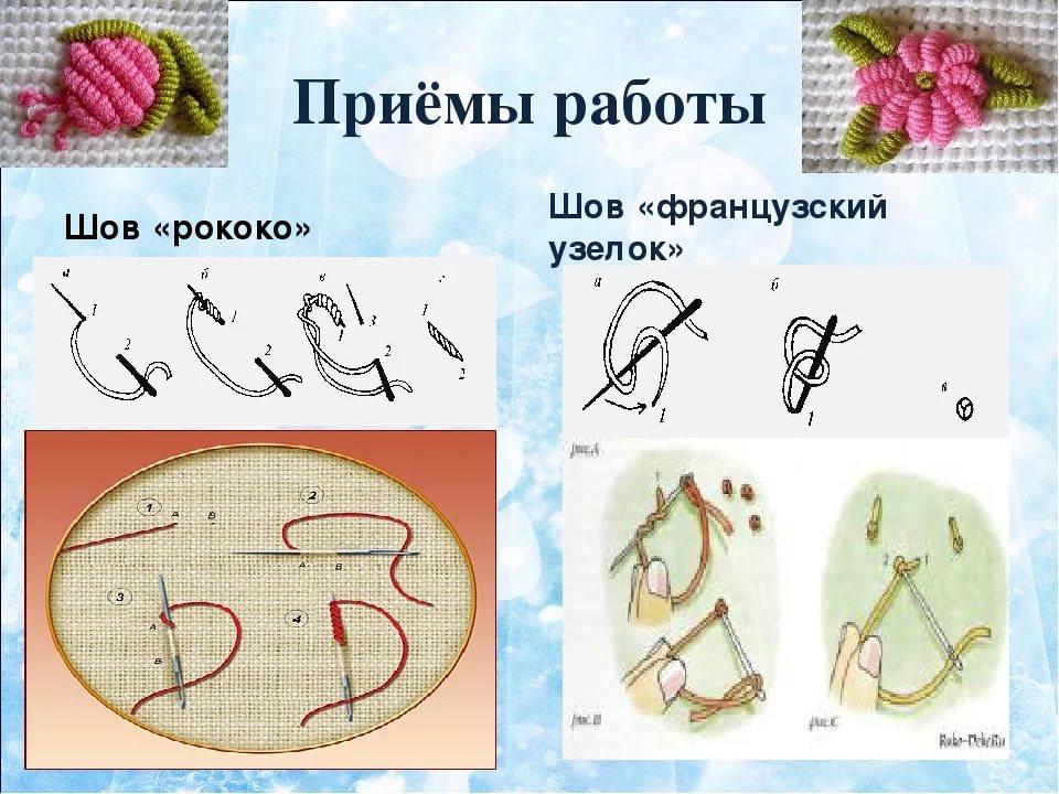 Вышивка рококо схемы для начинающих, фото пошагово