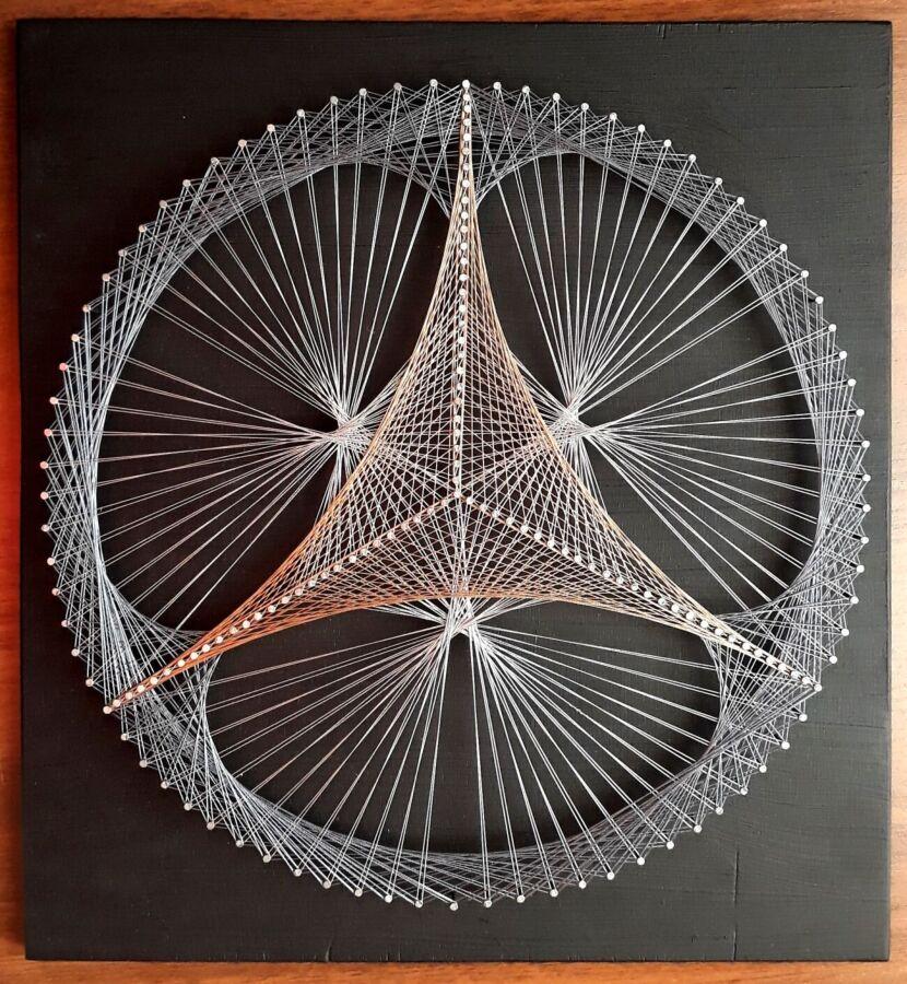 Картины из гвоздей и ниток или техника стринг арт (string art) во всей красе с шаблонами, схемами и мастер-классами | крестик
