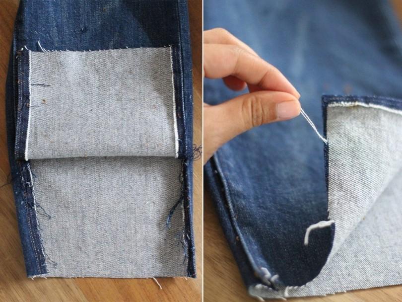 Как подшить джинсы вручную и на машинке правильно сохранив шов