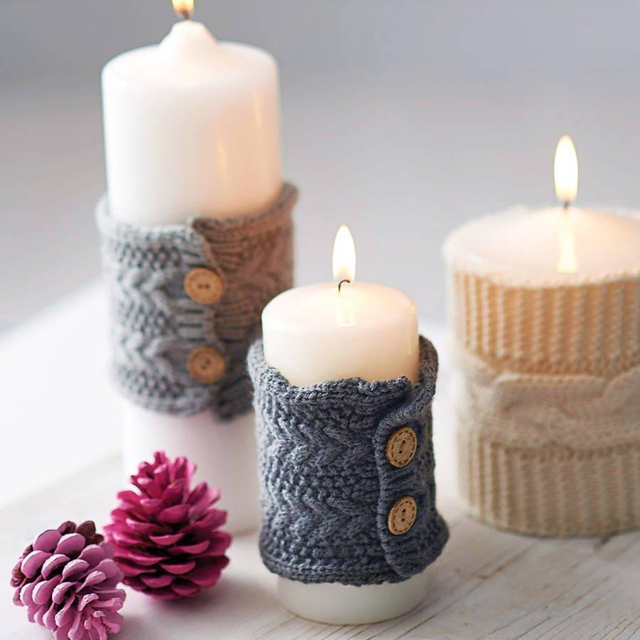 Декор свечей — пошаговая инструкция и мастер-класс на 70 фото