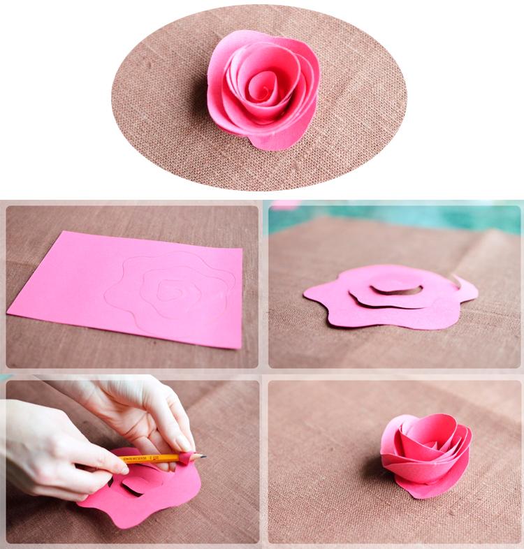 Розы из гофрированной бумаги: как сделать большие цветы
