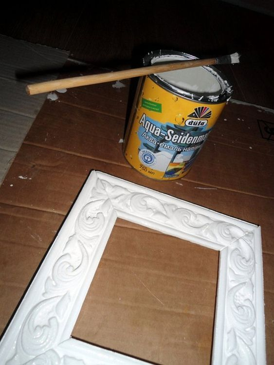 Рамка для картины из плинтуса