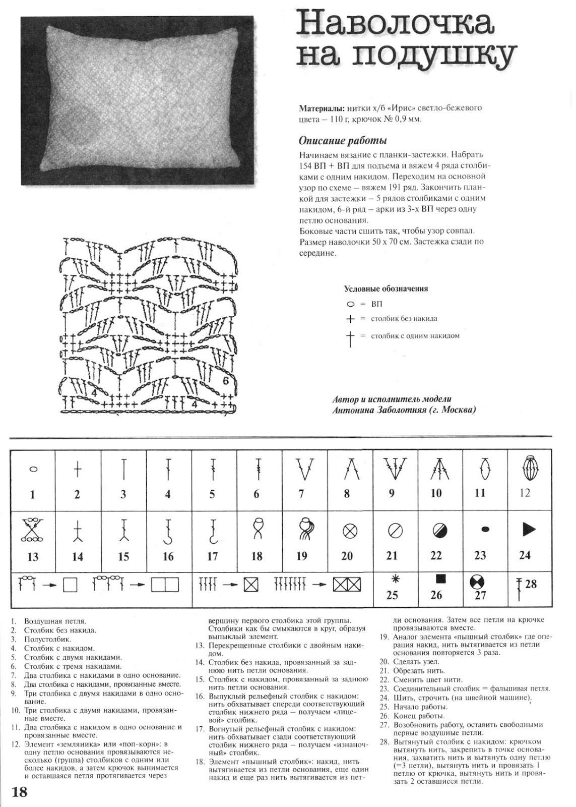 Подушки вязанные крючком схемы и описание, мастер-класс