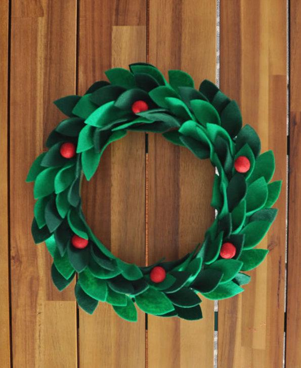 25 лучших идей для рождественского венка своими руками